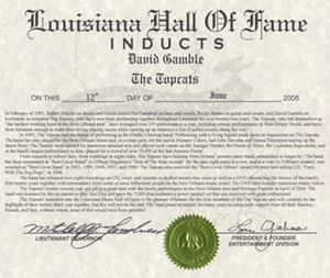 The Topcats are inducted into the Louisiana Hall of Fame